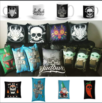 Pillows, Blankets, & Mugs