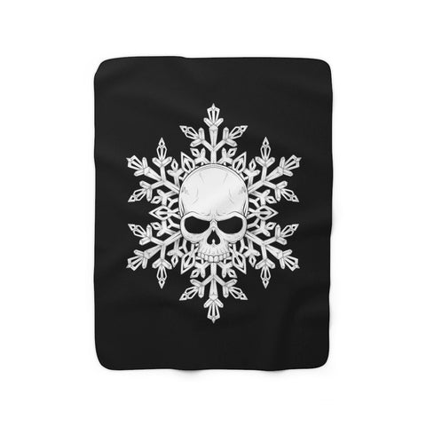 SkullFlake Sherpa Fleece Blanket