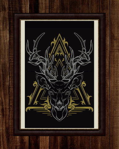 Deer Filigree Print (11x17)