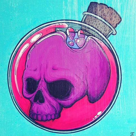 """Death in Alchemy"" Acrylic Painting"