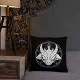 Baphomet Throw Pillow