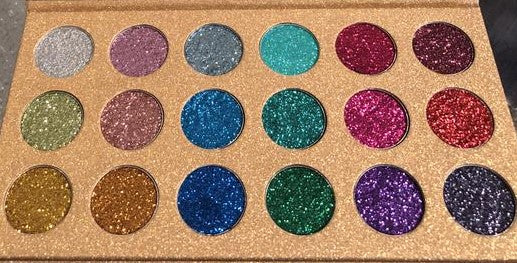 18 COLOR DIAMOND GLITTER PRESSED POWDER PALETTE