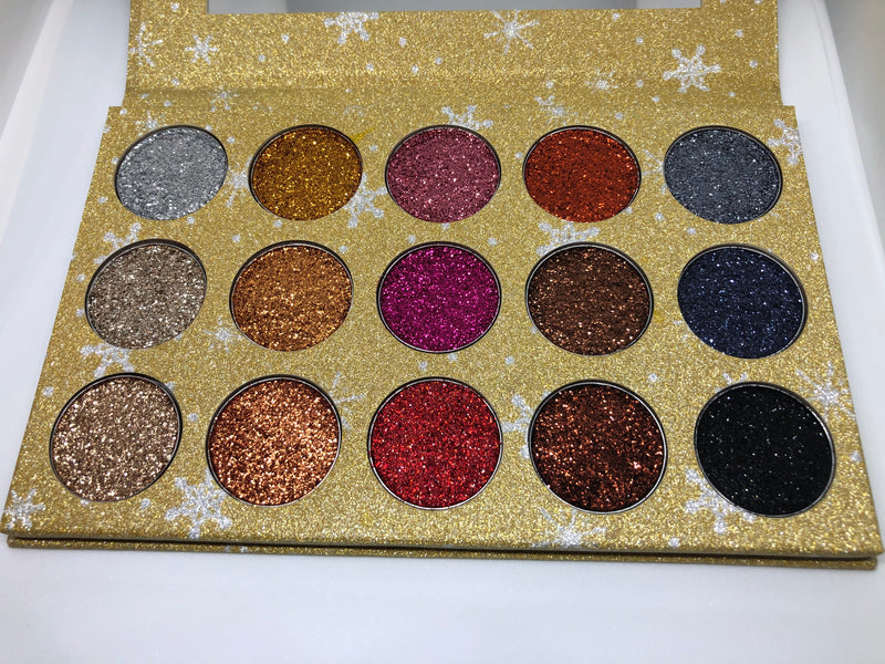 "15 WELL ""24K"" PRESSED GLITTER PALETTE"
