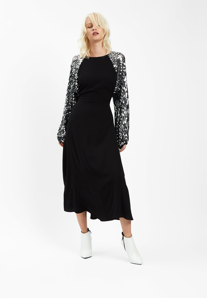 The Blame Sequin Maxi Dress in Black