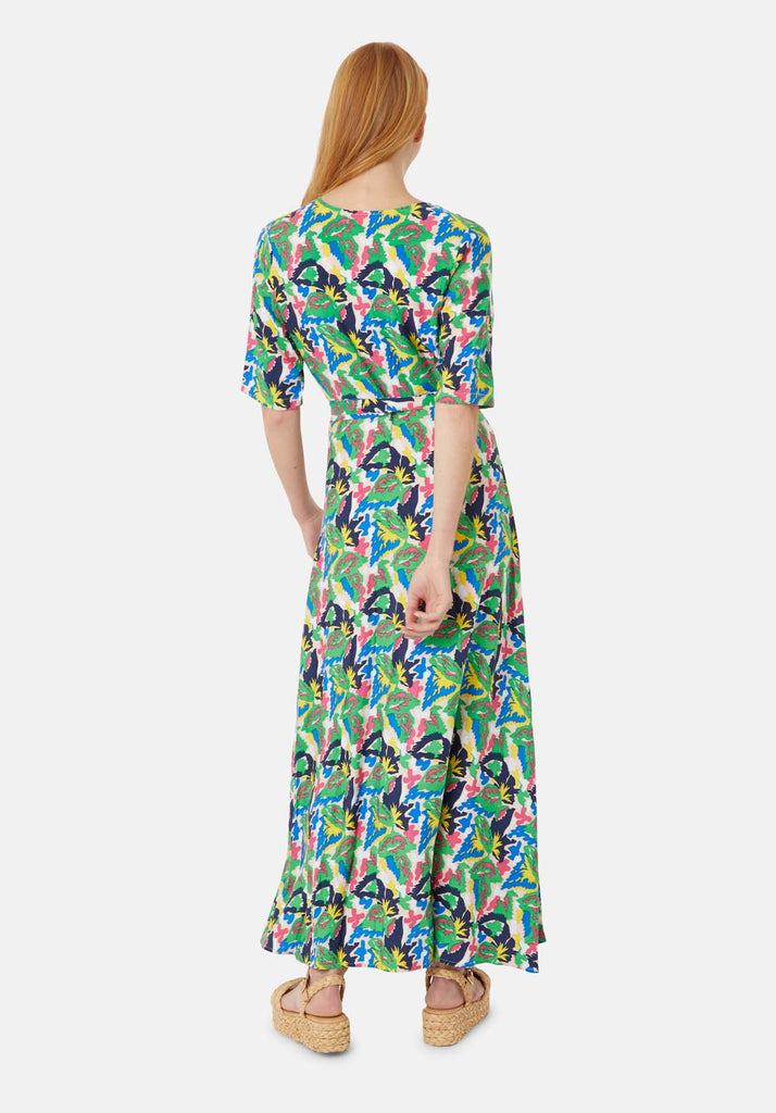 Traffic People Moment of Madness Maxi Wrap Dress Side View Image