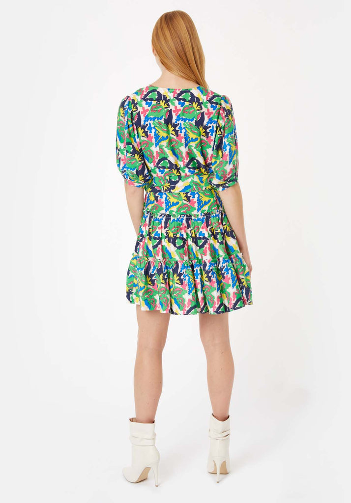 Traffic People Fellicitous Multicoloured V-Neck Mini Dress Side View Image