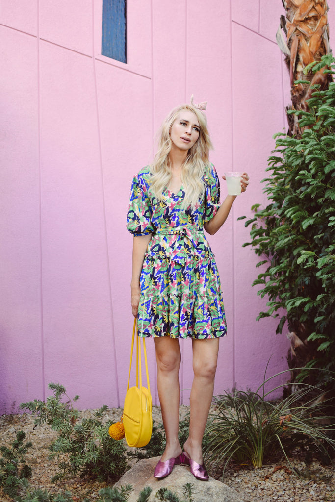 Fellicitous Multicoloured V-Neck Mini Dress