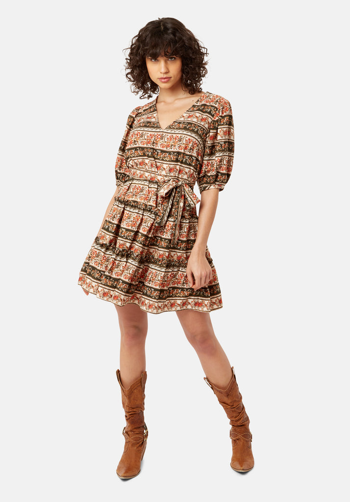 Traffic People Felicitous Boho Printed Mini Dress Side View Image