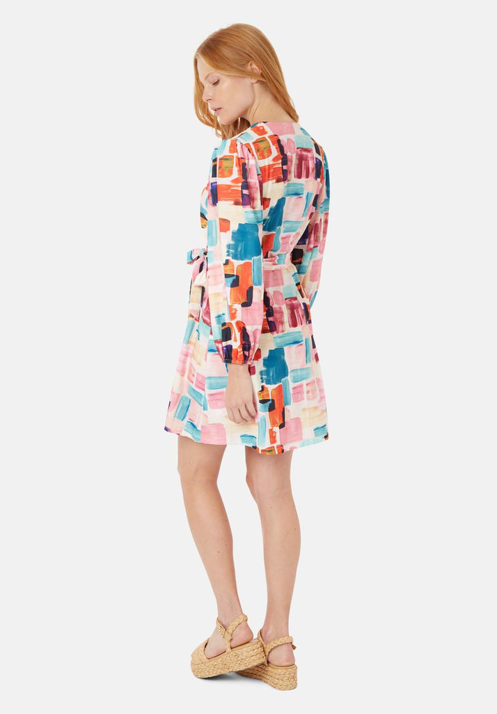 Traffic People Mutiny Printed Mini Dress in Multicoloured Side View Image