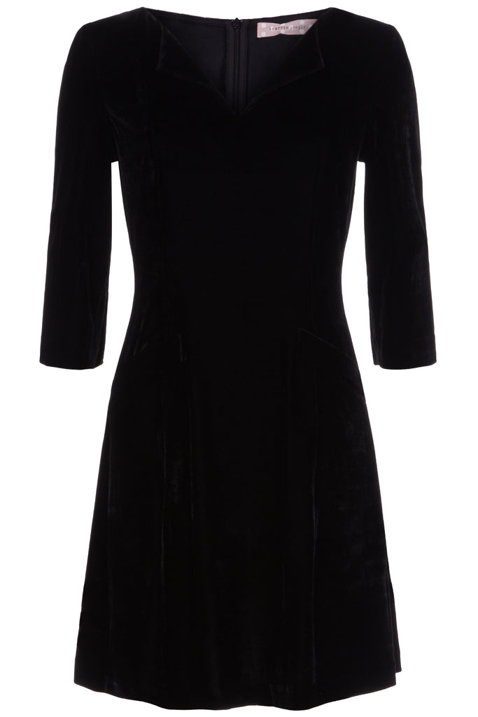 Traffic People Velvet Mini Tunic Dress Front View Image