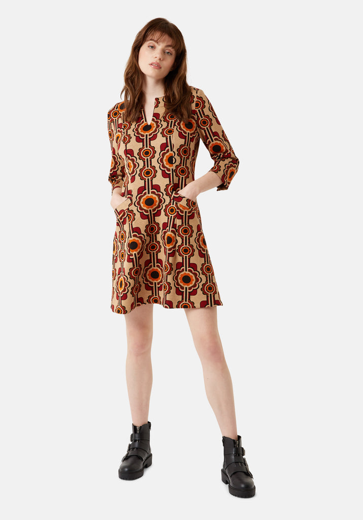 Printed Corrie Bratter Mini Tunic Dress
