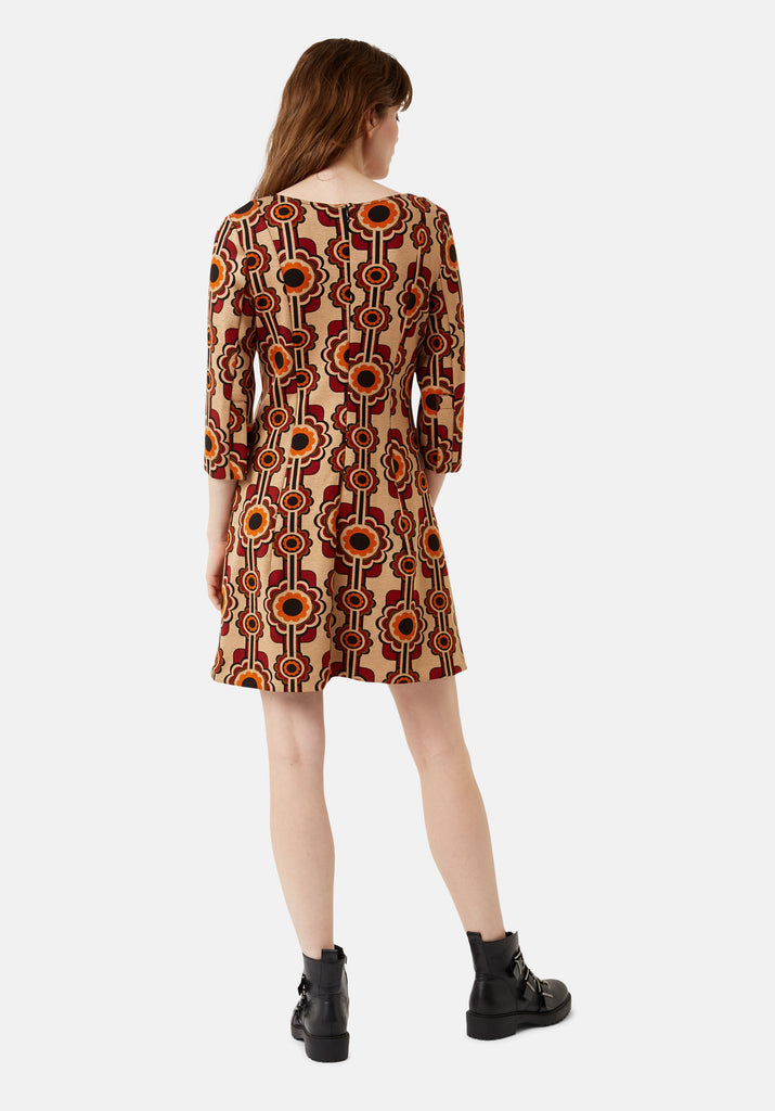 Traffic People Printed Corrie Bratter Mini Tunic Dress Side View Image