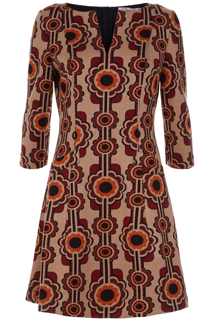 Traffic People Printed Corrie Bratter Mini Tunic Dress FlatShot Image
