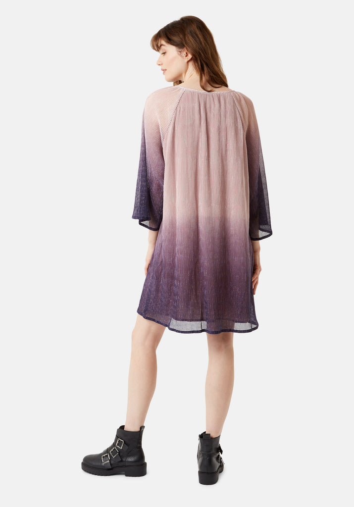 Traffic People Moments Chffon Ombre Mini Dress in Purple and Pink Side View Image