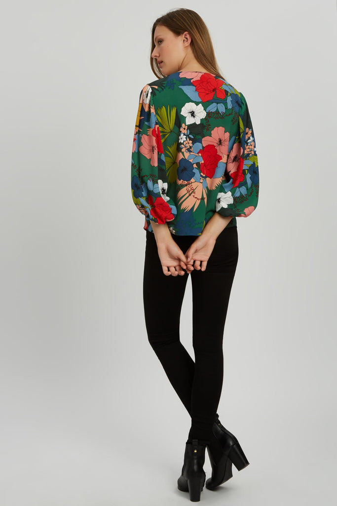 Traffic People Vice Floral Shirt in Multi Back View Image