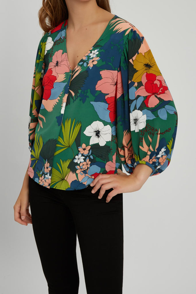 Traffic People Vice Floral Shirt in Multi Close Up Image