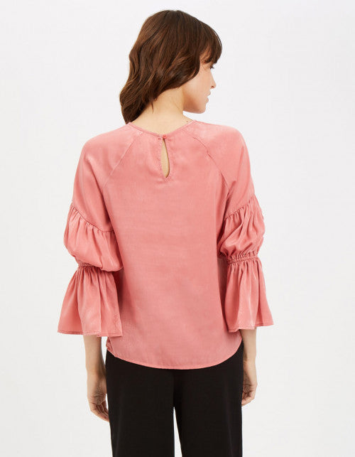 Traffic People The Sting Blouse in Pink Back View Image