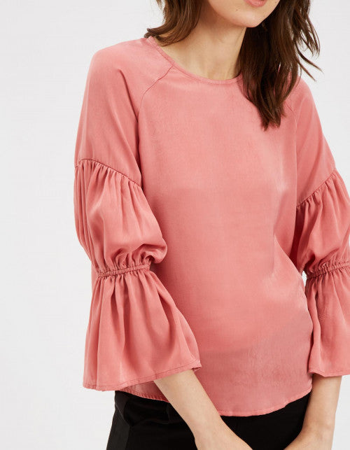 Traffic People The Sting Blouse in Pink Close Up Image
