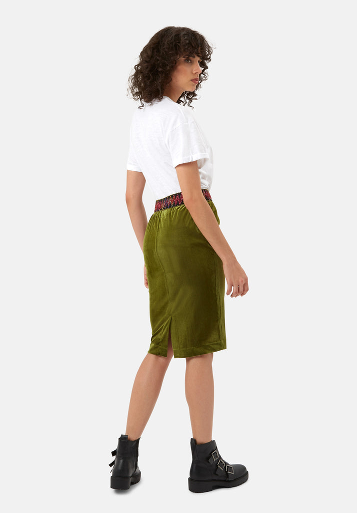 Traffic People JIC Pencil Skirt in Green Side View Image