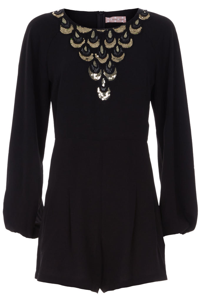 Traffic People Jewel of the Nile Long Sleeve Playsuit Front View Image