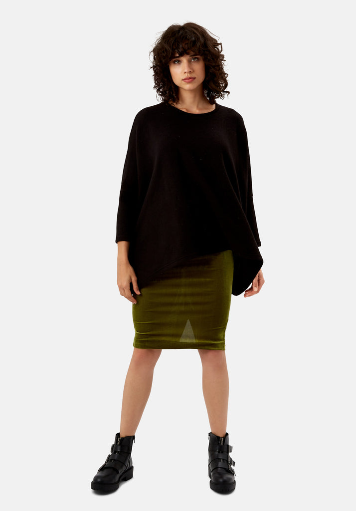 Traffic People Star Duster Sloppy Joe Jumper in Black Side View Image