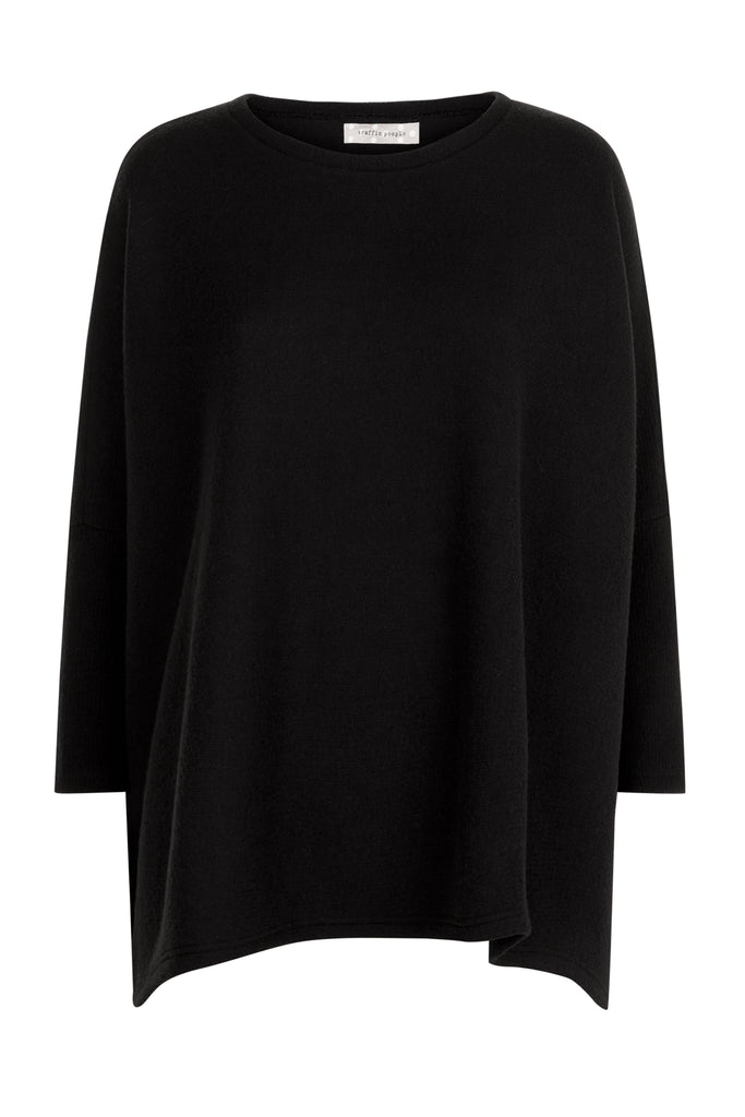 Traffic People Star Duster Sloppy Joe Jumper in Black FlatShot Image