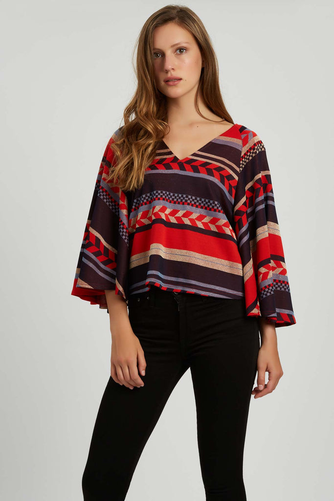 Traffic People Vanquish Geometric Top in Red Side View Image