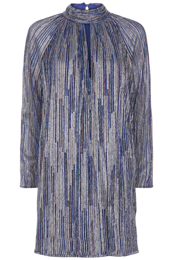 Traffic People Glib Mini Shift Dress in Blue FlatShot Image