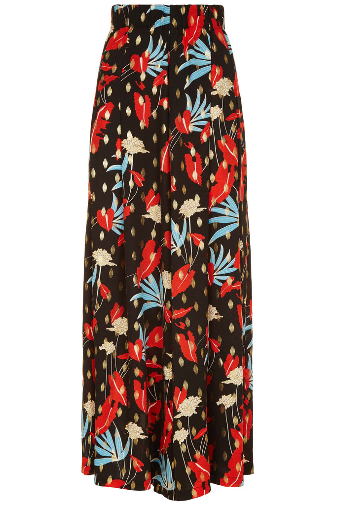 Traffic People Mustique Maggie Wide Leg Palazzo Trousers in Floral Print FlatShot Image