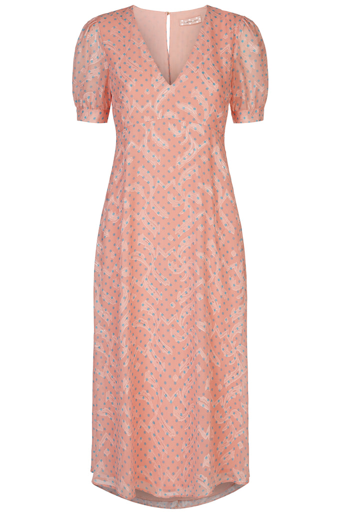 Traffic People Mia Midi Dress in Pink FlatShot Image