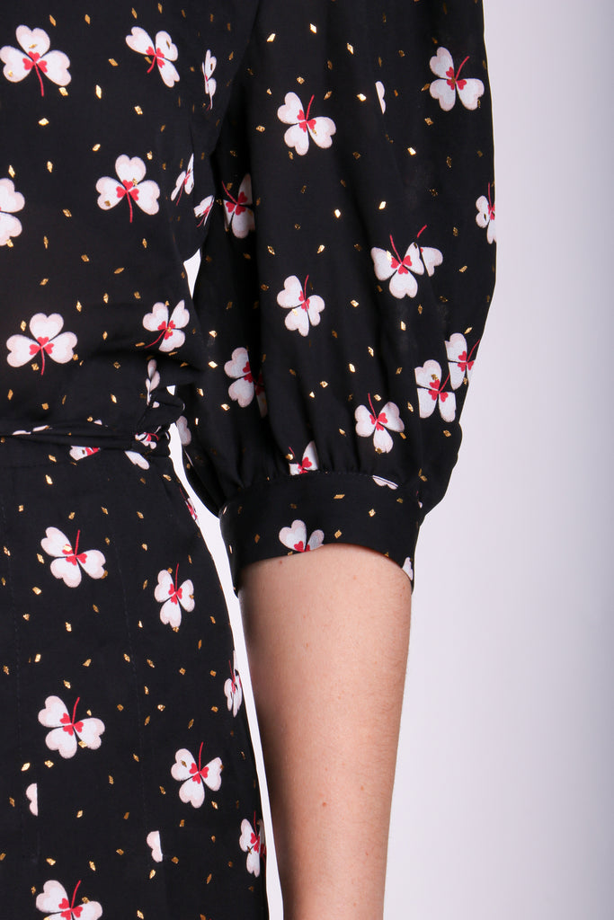 Traffic People Floral Wide Leg Hetty Jumpsuit Close Up Image