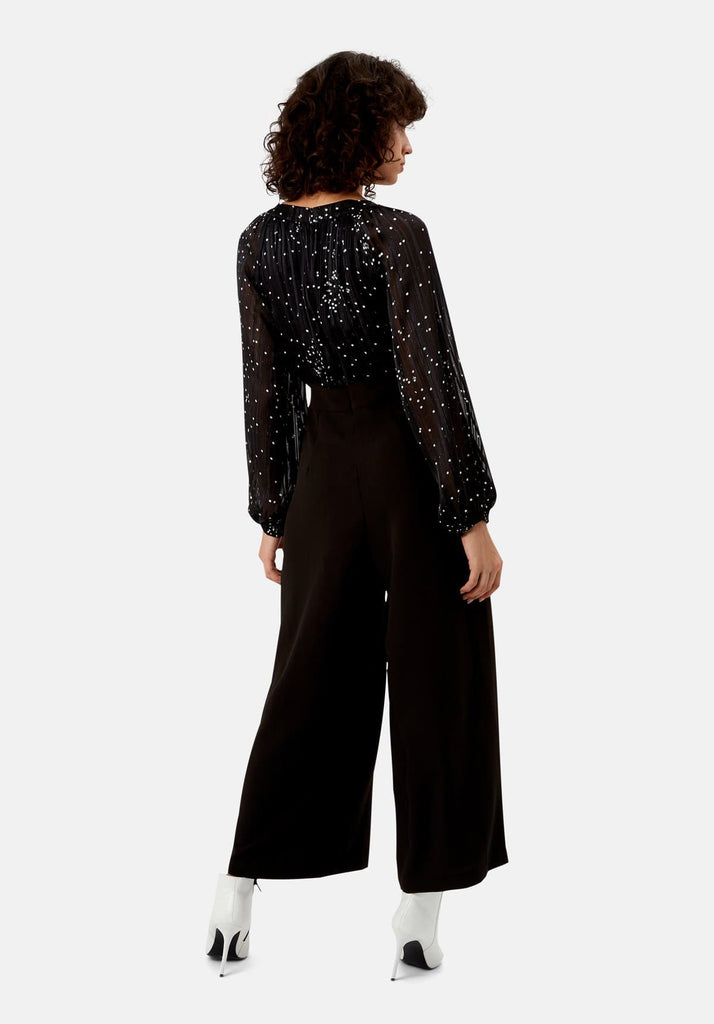Traffic People Folklore Jumpsuit in Black Side View Image