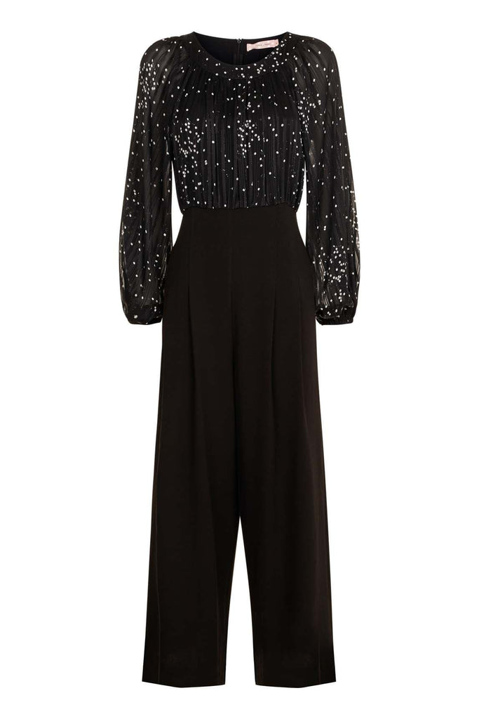 Traffic People Folklore Jumpsuit in Black FlatShot Image