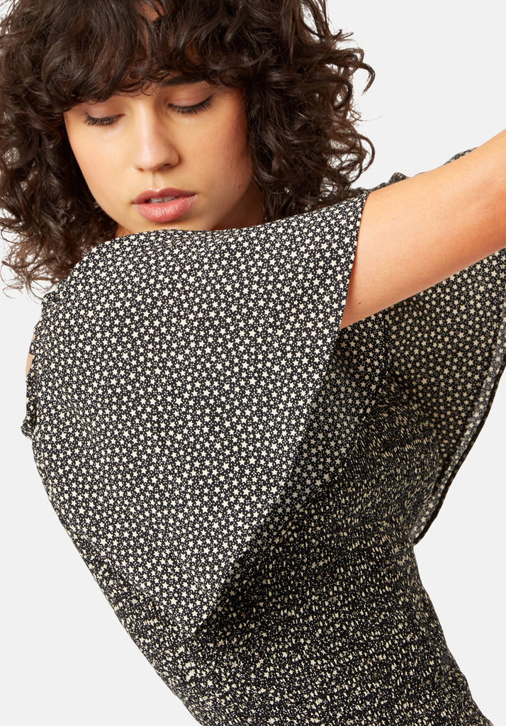 Traffic People My My Body Con Mini Dress in Star Print Close Up Image