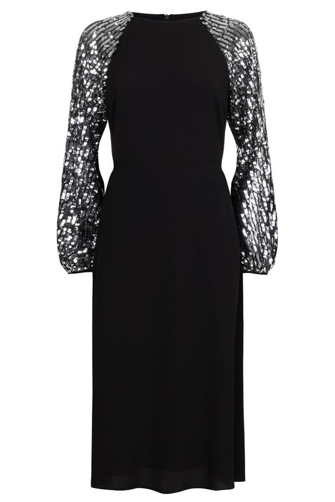 Traffic People The Blame Sequin Maxi Dress in Black FlatShot Image