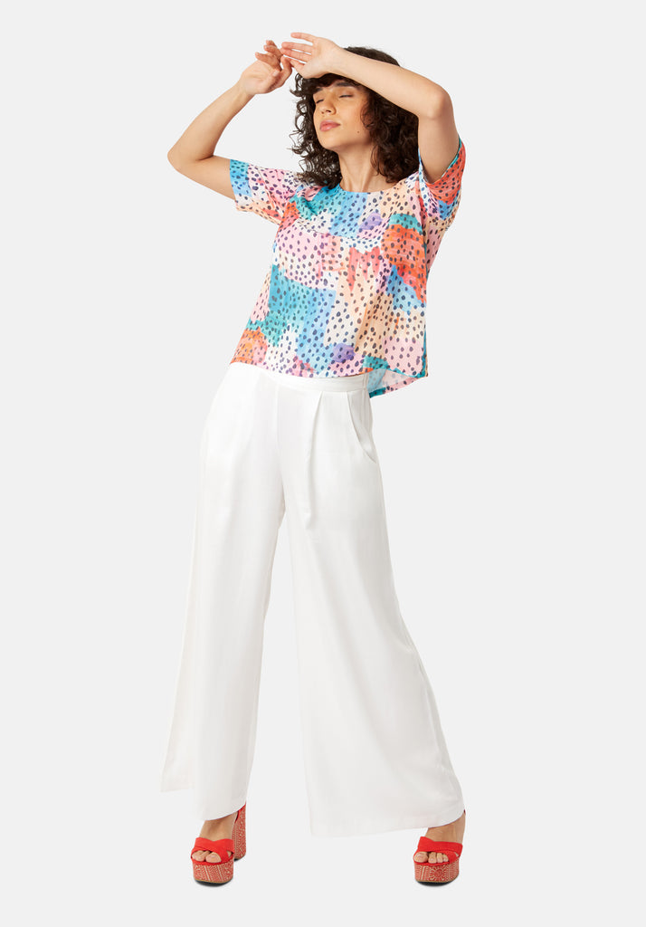 Tresspass Watercolour Short Sleeve Top in Multicolour