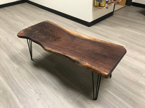 Handcrafted Wood Walnut Coffee Table Furniture