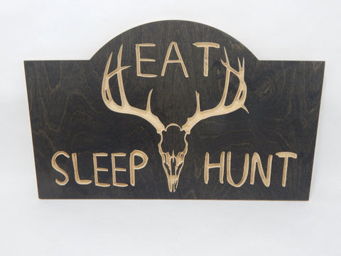 Handcrafted Wood sign! Eat Sleep Hunt. Hunters gift! Hunter decor! Great gift! Rustic home decor!