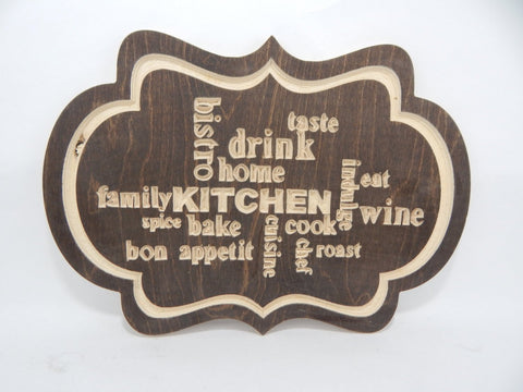 Handcrafted Wood sign! Kitchen Sayings  ! Great gift! Rustic home decor! Kitchen Decore !