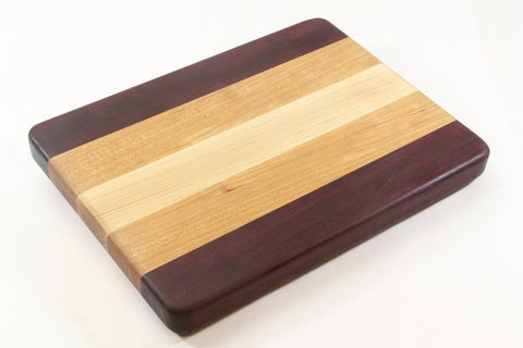 Edge Grain - Maple, Cherry and Purpleheart