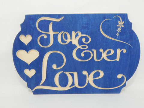 Handcrafted Wood sign! Forever Love ! Great gift! Rustic home decor! Love spouse !