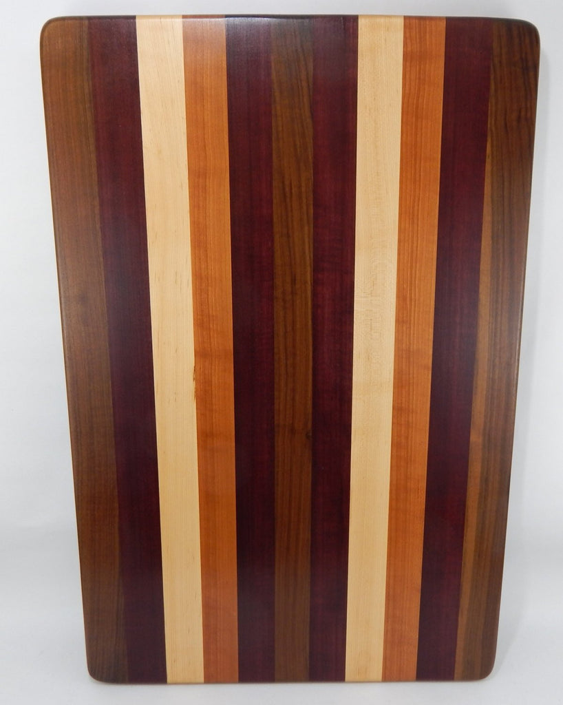 Handcrafted Wood Cutting Board Edge Grain Walnut Cherry