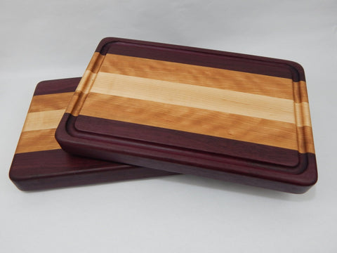 Edge Grain - Purpleheart, Cherry and Maple