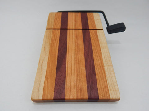Wood Cheese Slicer/Cutter - Cherry, Maple and Purple Heart.