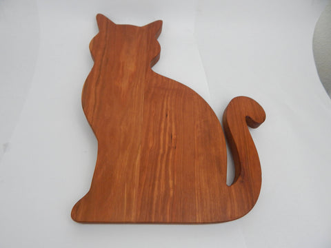 Cat shaped cutting boards. Solid Walnut, Cherry or Maple woods