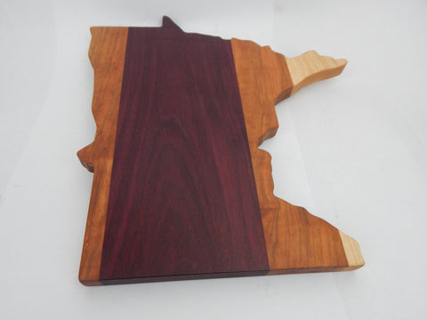 State Board Minnesota Cheese/Cutting - Purpleheart, Cherry, Maple