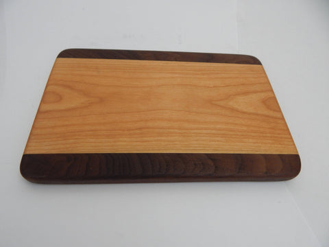 Handcrafted Wood Cutting Board - Edge Grain - Walnut & Cherry woods. Wedding gift! Chefs/cooks will love this!!