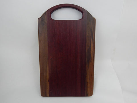 Handcrafted Wood Cutting Board - Walnut & Purple Heart woods. Great gift for him or her, Chefs or cooks! Paddle board
