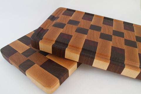 End Grain - Walnut, Maple, Cherry and Purpleheart