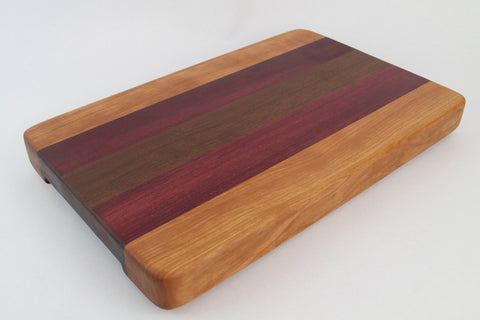 Edge Grain - Walnut, Cherry and Purpleheart